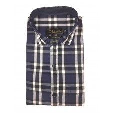 Parkson - Ble01Blue - Casual Semi Formal Checks Shirts Premium Blended Cotton WRINKLE FREE