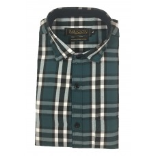 Parkson - Ble01Green - Casual Semi Formal Checks Shirts Premium Blended Cotton WRINKLE FREE