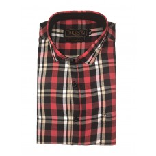 Parkson - Ble04Red - Casual Semi Formal Checks Shirts Premium Blended Cotton WRINKLE FREE