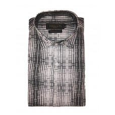 Parkson - Ble05Black - Casual Semi Formal Checks Shirts Premium Blended Cotton WRINKLE FREE