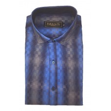 Parkson - Ble06Blue - Casual Semi Formal Checks Shirts Premium Blended Cotton WRINKLE FREE