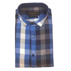Parkson - Ble13Blue - Casual Semi Formal Checks Shirts Premium Blended Cotton WRINKLE FREE
