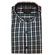 Parkson - Ble14Green - Casual Semi Formal Checks Shirts Premium Blended Cotton WRINKLE FREE