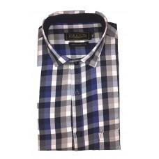 Parkson - Ble15Blue - Casual Semi Formal Checks Shirts Premium Blended Cotton WRINKLE FREE
