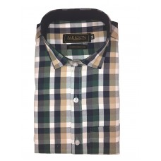 Parkson - Ble15Green - Casual Semi Formal Checks Shirts Premium Blended Cotton WRINKLE FREE