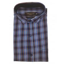 Parkson - Ble16Blue - Casual Semi Formal Checks Shirts Premium Blended Cotton WRINKLE FREE