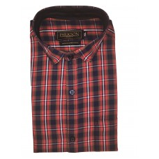 Parkson - Ble16Red - Casual Semi Formal Checks Shirts Premium Blended Cotton WRINKLE FREE