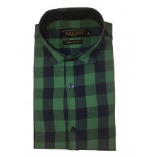 Parkson - Ble19Green - Casual Semi Formal Checks Shirts Premium Blended Cotton WRINKLE FREE