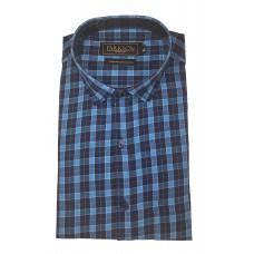Parkson - Ble20Blue - Casual Semi Formal Checks Shirts Premium Blended Cotton WRINKLE FREE