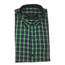 Parkson - Ble20Green - Casual Semi Formal Checks Shirts Premium Blended Cotton WRINKLE FREE