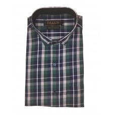 Parkson - Ble21Green - Casual Semi Formal Checks Shirts Premium Blended Cotton WRINKLE FREE