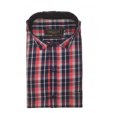 Parkson - Ble21Red - Casual Semi Formal Checks Shirts Premium Blended Cotton WRINKLE FREE