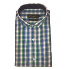 Parkson - Ble22Blue - Casual Semi Formal Checks Shirts Premium Blended Cotton WRINKLE FREE