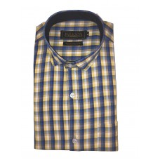 Parkson - Ble22Yellow - Casual Semi Formal Checks Shirts Premium Blended Cotton WRINKLE FREE