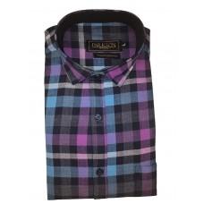 Parkson - Ble25Blue - Casual Semi Formal Checks Shirts Premium Blended Cotton WRINKLE FREE