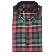 Parkson - Ble25Green - Casual Semi Formal Checks Shirts Premium Blended Cotton WRINKLE FREE