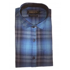Parkson - Ble27Blue - Casual Semi Formal Checks Shirts Premium Blended Cotton WRINKLE FREE