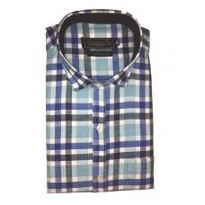 Parkson - Ble28Blue - Casual Semi Formal Checks Shirts Premium Blended Cotton WRINKLE FREE