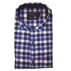 Parkson - Ble32Blue - Casual Semi Formal Checks Shirts Premium Blended Cotton WRINKLE FREE