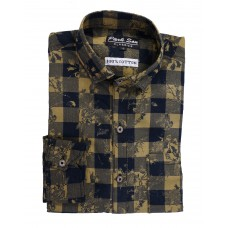 Parkson - COT01Mustard Casual Digital Printer Shirts for Fancy Ware 100% Cotton Shirts