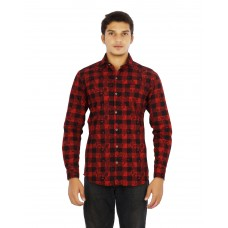 Parkson - COT01RED Casual Digital Printer Shirts for Fancy Ware 100% Cotton Shirts
