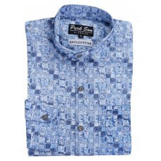 Parkson - COT10Blue Casual Digital Printer Shirts for Fancy Ware 100% Cotton Shirts