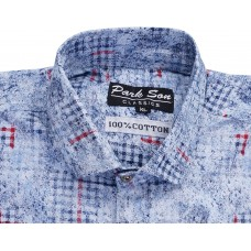 Parkson - COT11Blue Casual Digital Printer Shirts for Fancy Ware 100% Cotton Shirts