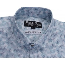 Parkson - COT12Blue Casual Digital Printer Shirts for Fancy Ware 100% Cotton Shirts