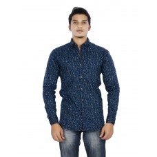 Parkson - COT14Blue Casual Digital Printer Shirts for Fancy Ware 100% Cotton Shirts