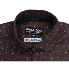Parkson - COT15Brown Casual Digital Printer Shirts for Fancy Ware 100% Cotton Shirts