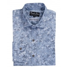 Parkson - COT16Blue Casual Digital Printer Shirts for Fancy Ware 100% Cotton Shirts