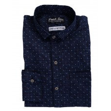 Parkson - COT17Blue Casual Digital Printer Shirts for Fancy Ware 100% Cotton Shirts