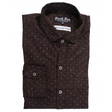 Parkson - COT17Brown Casual Digital Printer Shirts for Fancy Ware 100% Cotton Shirts