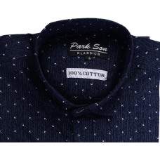Parkson - COT03BLUE Casual Digital Printer Shirts for Fancy Ware 100% Cotton Shirts