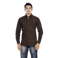 Parkson - COT03BROWN Casual Digital Printer Shirts for Fancy Ware 100% Cotton Shirts
