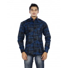 Parkson - COT04BLUE Casual Digital Printer Shirts for Fancy Ware 100% Cotton Shirts