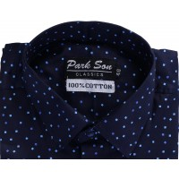 Parkson - COT05Blue Casual Digital Printer Shirts for Fancy Ware 100% Cotton Shirts
