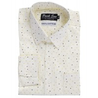 Parkson - COT05Cream Casual Digital Printer Shirts for Fancy Ware 100% Cotton Shirts