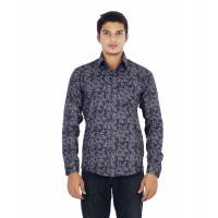 Parkson - COT07DaBlue Casual Digital Printer Shirts for Fancy Ware 100% Cotton Shirts