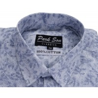 Parkson - COT07LiBlue Casual Digital Printer Shirts for Fancy Ware 100% Cotton Shirts