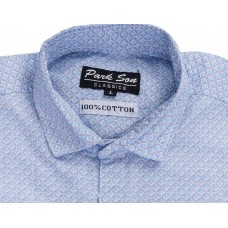 Parkson - COT08Blue Casual Digital Printer Shirts for Fancy Ware 100% Cotton Shirts
