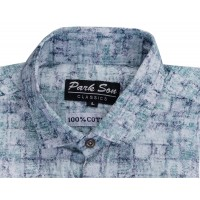 Parkson - COT09SeaGrn Casual Digital Printer Shirts for Fancy Ware 100% Cotton Shirts