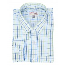 Radhes -OMG111Green  FORMAL Office Wear Shirts WRINKLE FREE Checks Shirts Everyday Wear