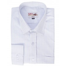 Radhes -OMG140Blue  FORMAL Office Wear Shirts WRINKLE FREE Checks Shirts Everyday Wear