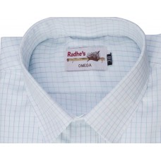 Radhes -OMG140Green  FORMAL Office Wear Shirts WRINKLE FREE Checks Shirts Everyday Wear