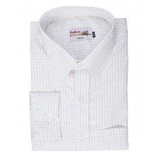 Radhes -OMG140Orange  FORMAL Office Wear Shirts WRINKLE FREE Checks Shirts Everyday Wear