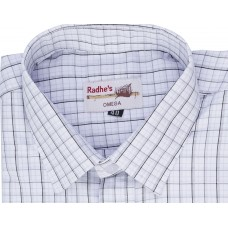 Radhes -OMG70Grey  FORMAL Office Wear Shirts WRINKLE FREE Checks Shirts Everyday Wear