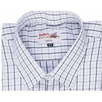Radhes -OMG74Black  FORMAL Office Wear Shirts WRINKLE FREE Checks Shirts Everyday Wear