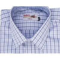 Radhes -OMG74Blue  FORMAL Office Wear Shirts WRINKLE FREE Checks Shirts Everyday Wear