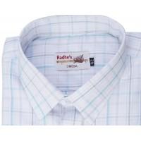 Radhes -AMBBlue  FORMAL Office Wear Shirts WRINKLE FREE Checks Shirts Everyday Wear